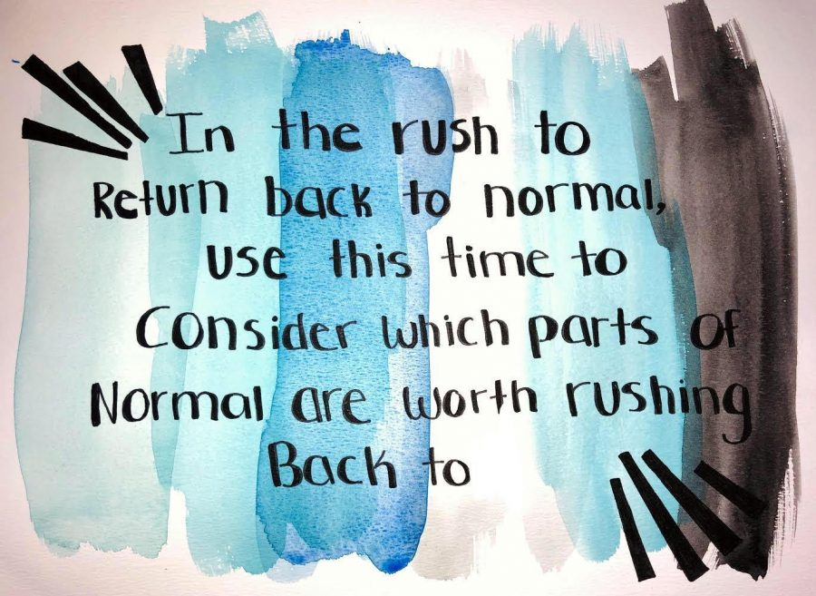 Rushing Back to Normal